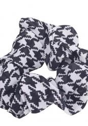 Sort/hvid scrunchie