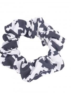 Sort/ hvid scrunchie