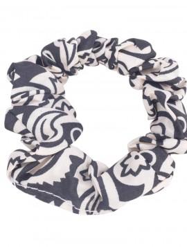 Sort hvid scrunchie