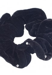 Velour scrunchie med simili Sten.