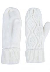 hvide strik handsker med lækkert foer