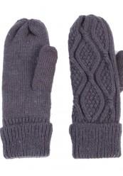 mørke grå strik handsker med lækkert foer