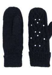 sort strik handske med lækkert foer