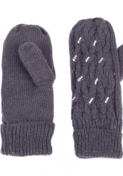 grå strik handske med lækkert foer.