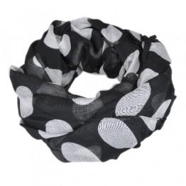 sort/hvid tørklæde