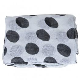 hvid/sort tørklæde