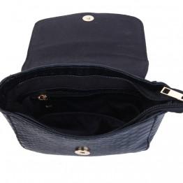 skulder taske i lækker krokodille look