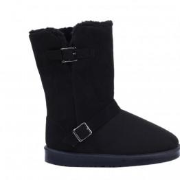 sort bamse støvle med spænde