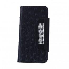 cover til iphone 5/5s med simili på klap-