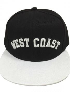 """sort/hvis cap med hvid """"west coast"""""""