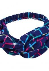 marineblå hårbånd m multi strib
