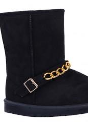 sort bamse støvle. skaft 20cm