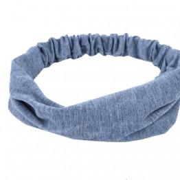 Image of   grå hårbånd i bomuld