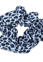 scrunchie i sort/hvid leopard print