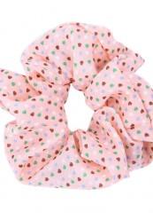 Coral scrunchies med hjerter