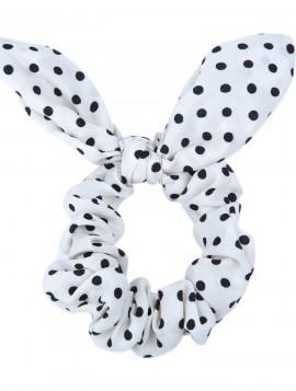ofwhite scrunchie med sløjfe