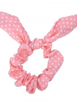lyserød scrunchies med sløjfer