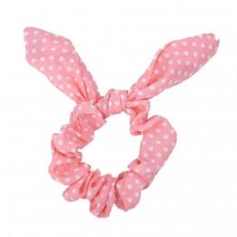 Image of   lyserød scrunchies med sløjfer