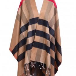 sjal/ poncho i brunlige farver