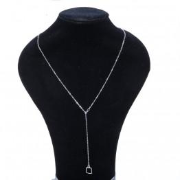 flot justerbar halskæde i sølvlook