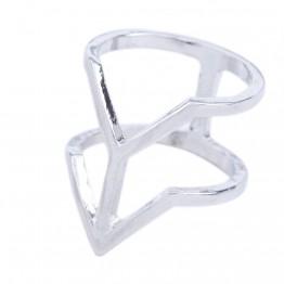 Ring i sølvlook