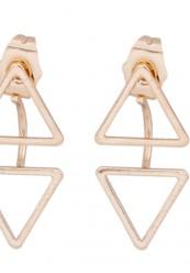 Ørering i guldlook med trekant vedhæng.