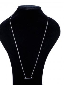enkelt sølvhalskæde