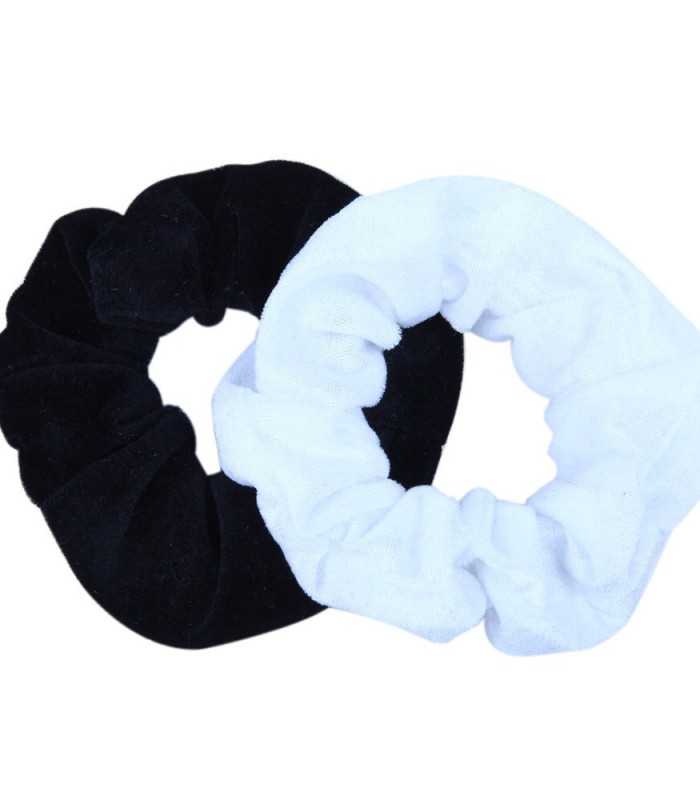 2 pak scrunchie i sort/ hvis velour.