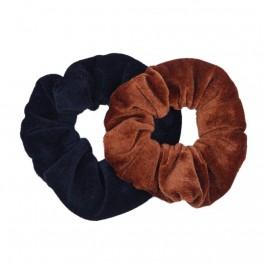 2pak scrunchie i sort/brun