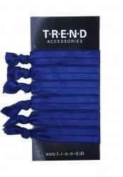 Marineblå elastikker med knude 6stk