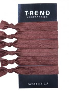 Brune elastikker med knude 6 stk