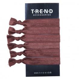 Image of   Brune elastikker med knude 6 stk