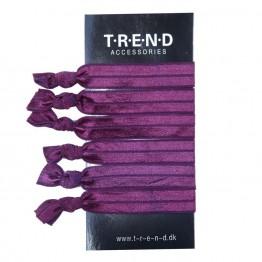 vinrøde elastikker med knude 6 stk.