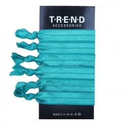 Image of   dusgrønne elastikker med knude 6 stk