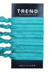 dusgrønne elastikker med knude 6 stk