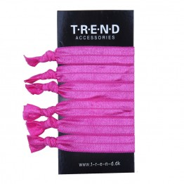 Image of   pink elastikker med knude 6 stk