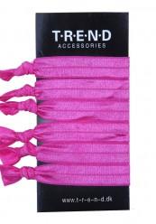 pink elastikker med knude 6 stk