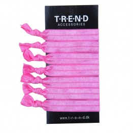 Image of   lyserøde elastikker med knude 6 stk.