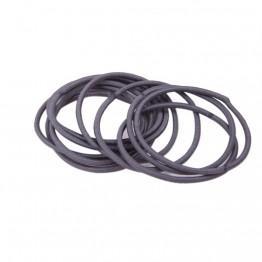 Bundt med 10 stk Tynde grå elastikker.