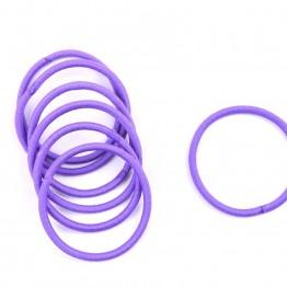 Image of   Bundt med 10 stk. lilla elastikker