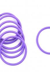 Bundt med 10 stk. lilla elastikker