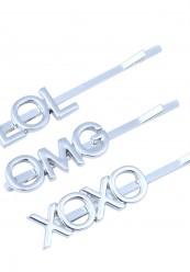 Spænder med motiv i sølvlook