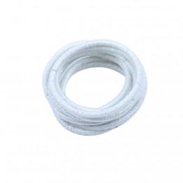 Image of   10 stk hvide glimmer elastikker.