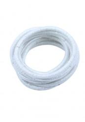 10 stk hvide glimmer elastikker.