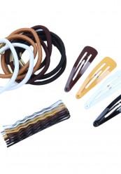 Sæt til håropsætnin,i brune farver.