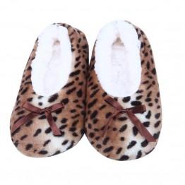 Dejlig varm hjemmesko i leopard look.