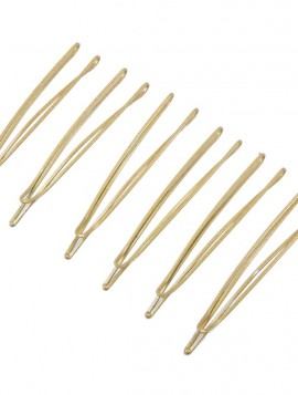 6 stk hårnåle i guldlook