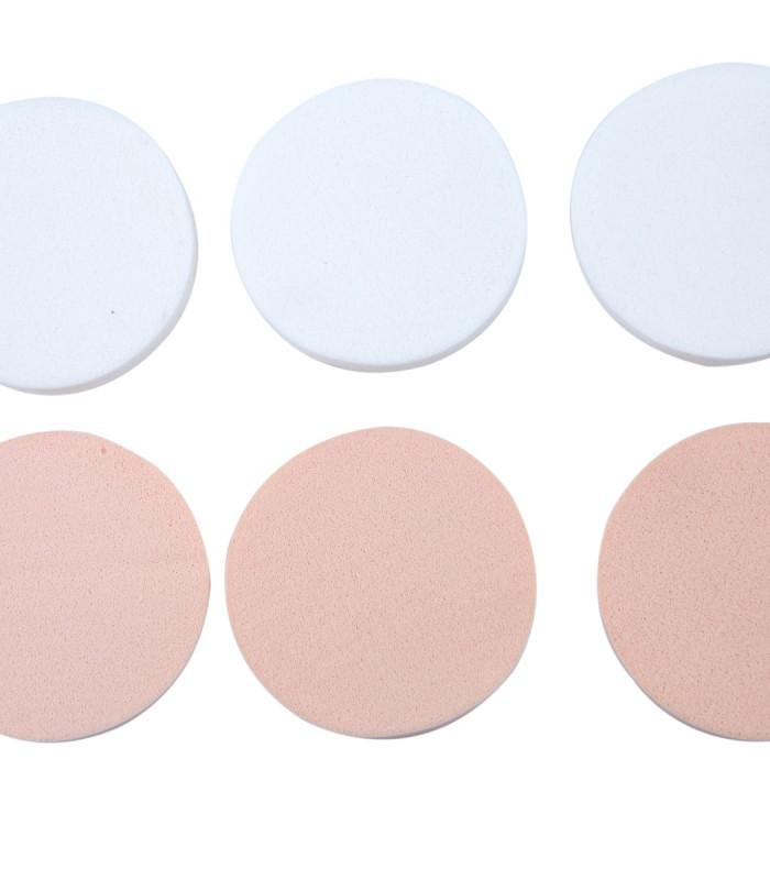 6 stk bløde make-up pads.