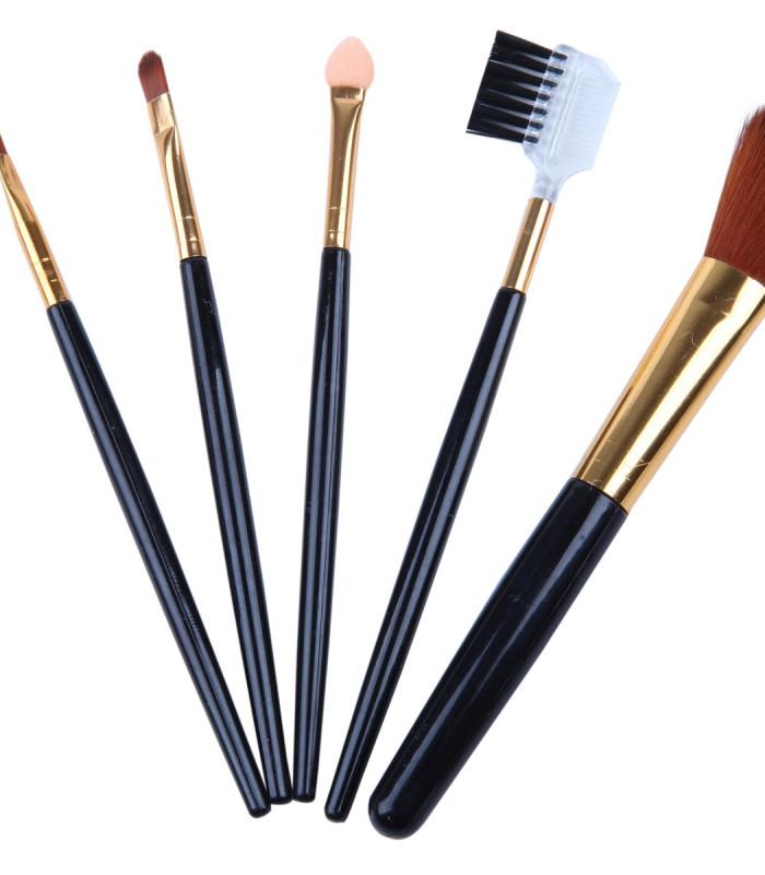 Sæt med 5 pensler til at ligge make-up
