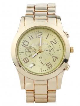 Super smart ur med lænke rem i guldlook.